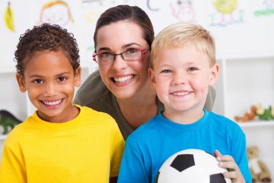 preschoolers smiling